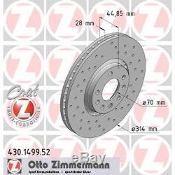 2 Sportbremsscheiben Sport-Bremsscheiben Opel Saab vorne 314mm Zimmermann
