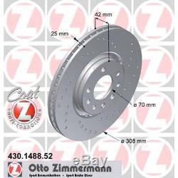 2 Zimmermann Sport-Bremsscheiben vorne 308mm Opel Astra G H Corsa D Zafira