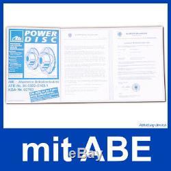 2x ATE POWER DISC BREMSSCHEIBE VORNE OPEL ADAM ASTRA G/H CORSA D/E ZAFIRA A/B