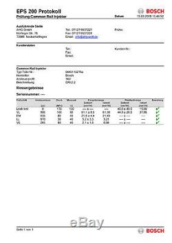 4x Injektor Bosch Einspritzdüse Opel Astra Vectra Zafira 1.9 CDTi 0445110276
