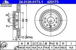 Ate Bremsscheiben+ceramic Beläge Hinten Opel Vectra C Gts Signum 2.0-3.2v6+cdti