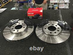 VAUXHALL VECTRA C 3.0CDTi BRAKE DISC BRAKE PADS PERFORMANCE GROOVED MINTEX FRONT