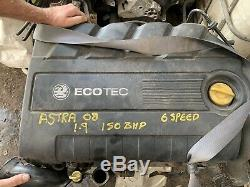 Vauxhall Astra Zafira Vectra 1.9 Cdti Dth Complete Engine 82000 Mls