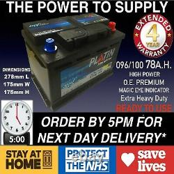 Vauxhall Vectra 1.9 Cdti 1.7 2.0 Diesel Car Battery 096 100 12v Heavyduty Sealed