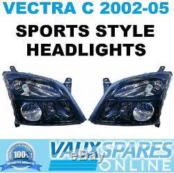 Vectra C Pre Facelift Pair Of Black Sports Headlights Sri Cdti