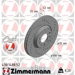 ZIMMERMANN Kit SPORT Bremsscheiben Beläge Opel Astra G Zafira A OPC vorne